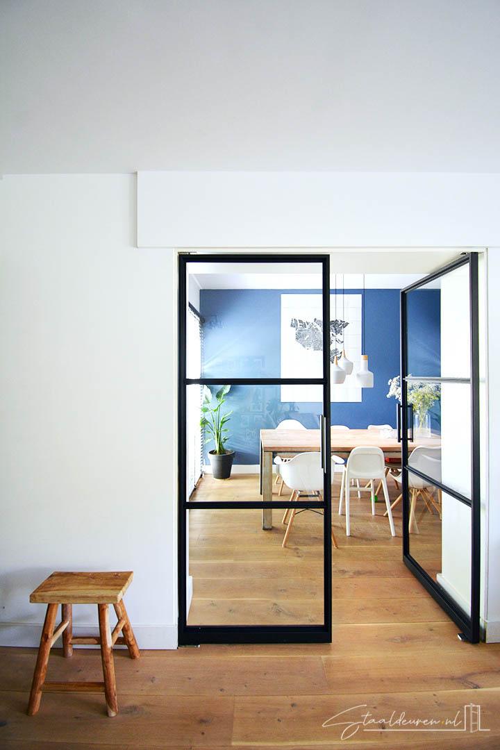 Dubbele taatsdeuren met gelijke vlakverdeling
